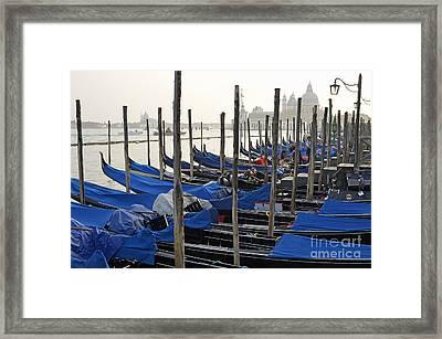 Santa Maria Della Salute And Gondolas Framed Print