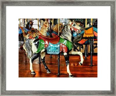 Santa Monica Carousel 003 Framed Print