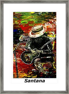 Santana  Framed Print