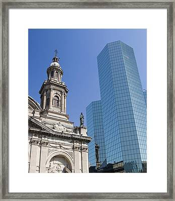 Santiago Chile South America Framed Print by Scott T. Smith