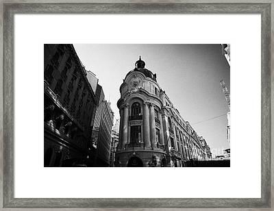Santiago Stock Exchange Building Chile Framed Print by Joe Fox