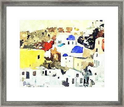 Santorini Framed Print