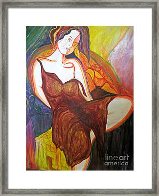 Framed Print featuring the painting Sara by Diana Bursztein