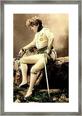 Sarah Bernhardt Framed Print by Collection Abecasis