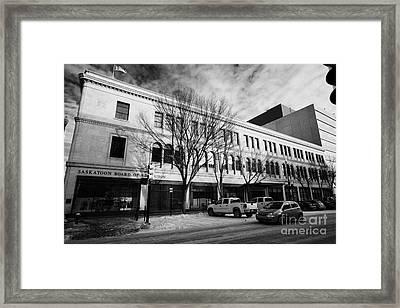 saskatoon board of education formerly eatons building downtown Saskatoon Saskatchewan Canada Framed Print by Joe Fox