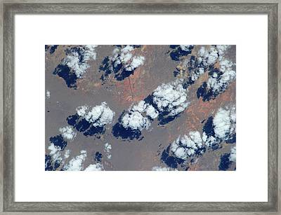 Satellite View Of Clouds Framed Print