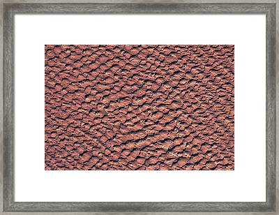 Satellite View Of Wet Sand On Riverbed Framed Print