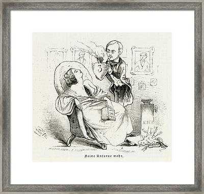 Satireresults Of Ether - Surgery Framed Print by Mary Evans Picture Library