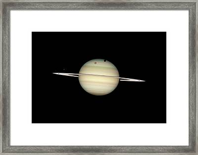 Saturn And Moon Transits Framed Print
