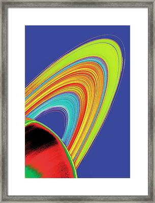 Saturn From Space Framed Print