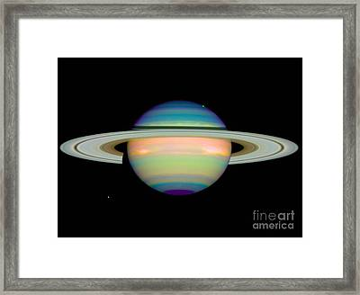 Saturn Framed Print by Science Source