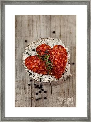 Sausage Framed Print by Mythja  Photography