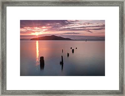 Sausalito Old Pier San Francisco Framed Print by Chris Frost