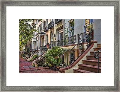 Savannah Row Framed Print by Diana Powell