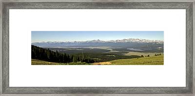 Sawatch Panoramic Framed Print by Jeremy Rhoades