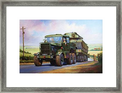 Scammell Explorer. Framed Print by Mike  Jeffries