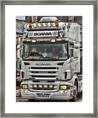 Scania V8 R620 Framed Print by Mick Flynn