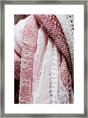 Scarf Pattern Framed Print by Tom Gowanlock