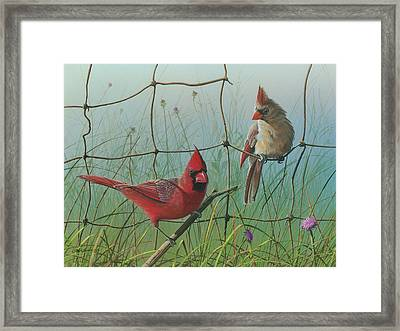 Framed Print featuring the painting Scarlet by Mike Brown