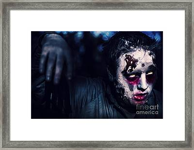 Scary Zombie Looking Gravely Ill. Monster Disease Framed Print by Jorgo Photography - Wall Art Gallery