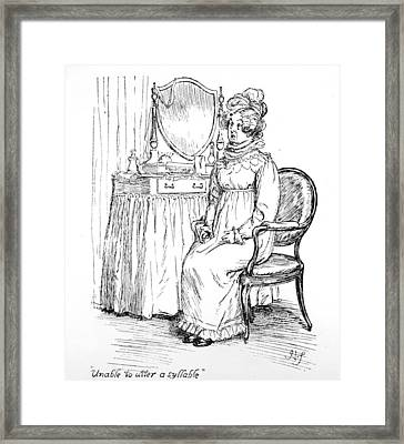 Scene From Pride And Prejudice By Jane Austen Framed Print