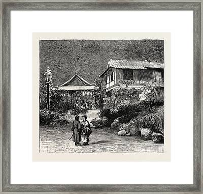 Scenes In The Towns And Districts Recently Devastated Framed Print by Japanese School