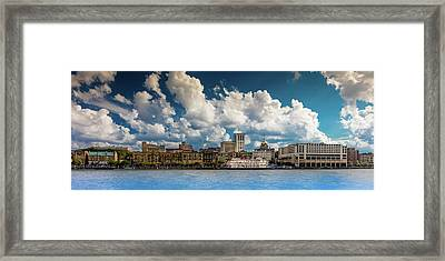 Savannah GA City Skyline Picture Framed Panorama