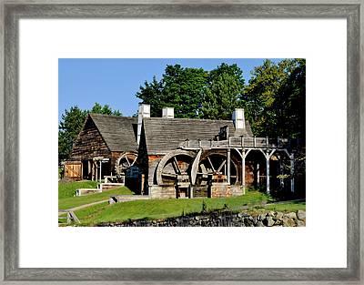Scenic Iron Works Framed Print