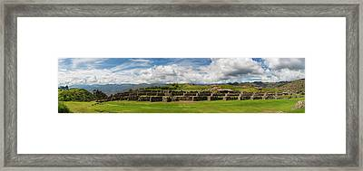 Scenic View Of Inca Archaeological Framed Print by Panoramic Images