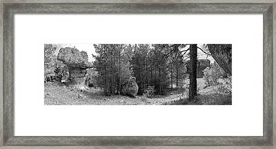 Scenic View Of The Geological Site Framed Print