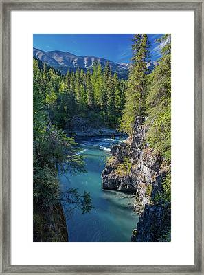 Scenic View Of The Kenai Mountains Framed Print