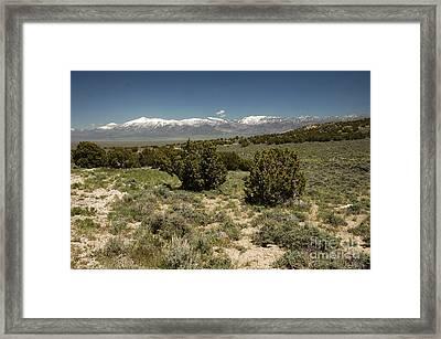 618p Schell Creek Range Nv Framed Print