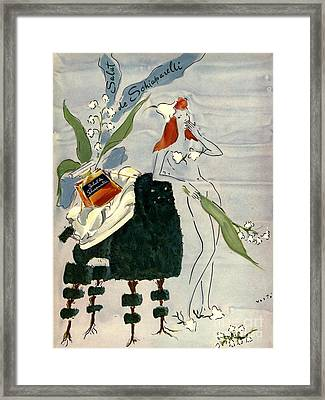 Schiaparelli 1940s Usa    Womens Framed Print by The Advertising Archives