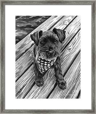 Ragnar Black Dog Framed Print