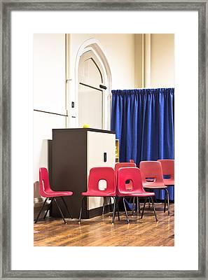 School Chairs Framed Print
