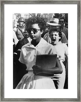 School Desegregation, 1957 Framed Print by Granger