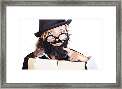 School Teacher With Book Framed Print by Jorgo Photography - Wall Art Gallery