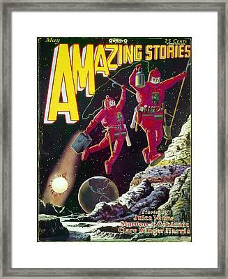 Science Fiction Cover 1929 Framed Print by Granger