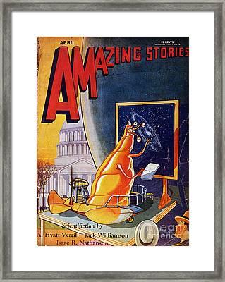 Science Fiction Cover 1930 Framed Print by Granger