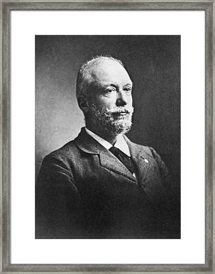 Scientist Auguste Forel Framed Print by Underwood Archives