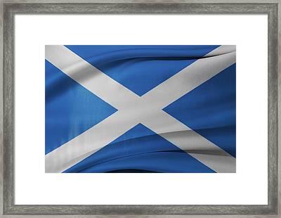 Scottish Flag Framed Print by Les Cunliffe
