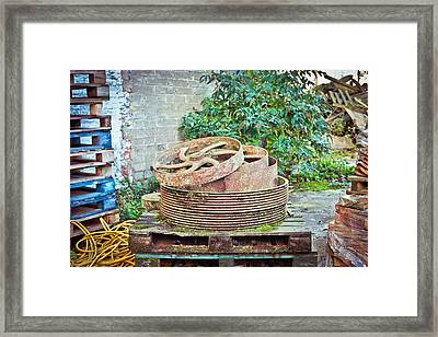 Scrap Yard Framed Print