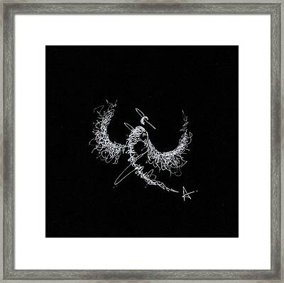Scribble Angel Framed Print