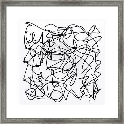 Scribble For 'eavesdropping' Framed Print