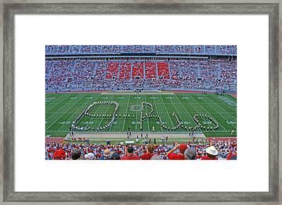 27w115 Script Ohio In Osu Stadium Framed Print