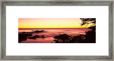 Sea At Sunset, Point Lobos State Framed Print by Panoramic Images
