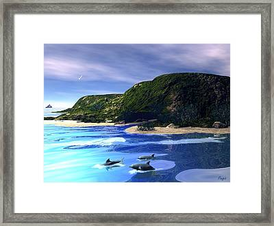 Sea Cave Framed Print by John Pangia
