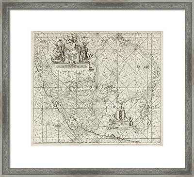 Sea Chart Of The Zuiderzee And The Wadden Sea Framed Print