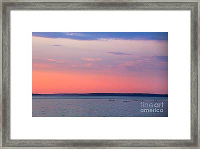 Sea Kayakers In Frenchman Bay Maine Framed Print