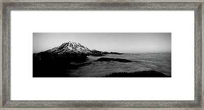 Sea Of Clouds With Mountains Framed Print by Panoramic Images
